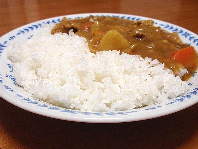 北海道米を代表する品種の一つである「きらら397」です。カレーライスにしてみました。